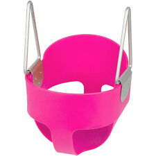 SWING SET STUFF HIGHBACK FULL BUCKET SWING PINK parks playground toddler 0001