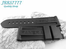 LO 24mm wristwatch strap Silicon Rubber diving Watch Band only Black NEW parts