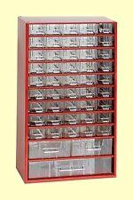 Kleinteilemagazin mit 48 Schubladen Werkstattmagazin Sortimentskasten rot