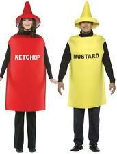 Adult Couples Funny Humorous Ketchup & Mustard Costume Katsup   - Fast Ship -