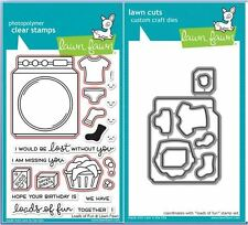 Lawn Fawn Photopolymer Clear Stamp & Die Combo ~ LOADS OF FUN ~ LF1048, LF1049