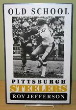 "ROY JEFFERSON ""Old School Pittsburgh Steelers"" 11x17 Poster"