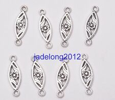 30pcs Tibetan Silver Charm Flower Connector 23X7MM Fashion Jewelry C3198