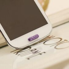 Home Button Sticker For Samsung Galaxy S7 S6 S5 S4 S3 S2 Note 2 3 4 5 Purple