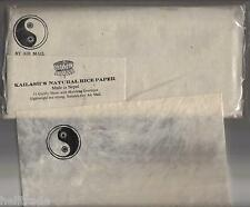 "KAILASH'S NATURAL RICE PAPER AIRMAIL SET - REISPAPIER SET ""YING - YANG""  NEPAL"