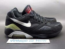 VTG Nike Air Max 180 Classic Black Silver Red Running Shoes 2005 sz 7