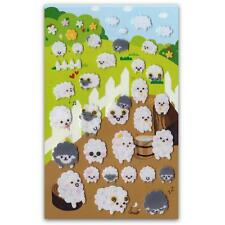 ✰ CUTE SHEEP FELT STICKERS Sheet Lamb Farm Animal Kids Craft Scrapbook Sticker