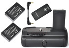 Battery Grip for Canon 100D with 2x LP-E12 battery + IR Remote EOS Rebel SL1 slr
