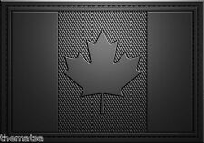 CANADA CANADIAN TACTICAL BLACK  FLAG PATCH 3X2 PVC  WITH HOOK LOOP