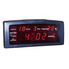 Orologio Sveglia Digitale ZXTL-13A Da Tavolo Led Datario Temperatura moc
