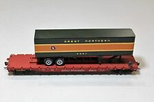 Con-Cor HO Scale Great Northern GN Piggy Back Flat Car with NP Trailer