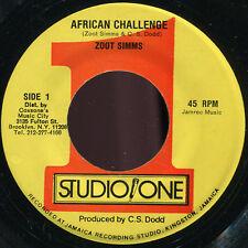 """Zoot Simms - African Challenge US Studio 1 7"""" Listen!"""