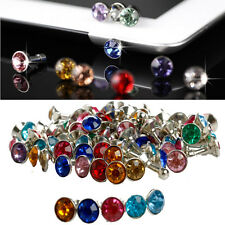 100x 3.5mm Bling Anti Dust Stopper Crystal Earphone Plug Cap For iPhone Samsung