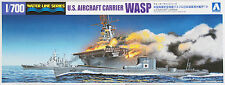 Aoshima Waterline 10303 US Aircraft Carrier WASP & Submarine I-19 1/700 scale