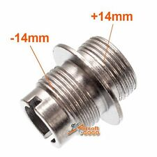 Steel Barrel Thread Adapter CW 14mm+ to CCW 14mm- for Airsoft AEG GBB GBBR