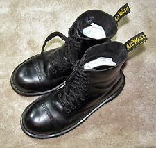 Dr. Martens 10966 10 Eye Black Leather ST Leather Cap Mid Calf Boots 11 US 10 UK