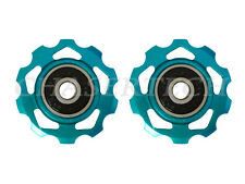 New MTB Road Bike Derailleur Jockey Wheel Slot Pulley 10T 6mm Aqua Blue
