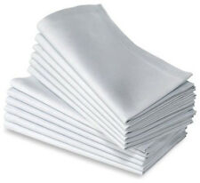 1000 COTTON RESTAURANT DINNER CLOTH LINEN NAPKINS WHITE 20''X20'' WEDDING GRADE