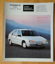 CITROEN ZX Reflex 1991 French Market sales brochure