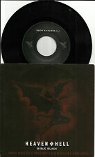 Black Sabbath HEAVEN & HELL Bible Black & LIVE TRK 7 INCH VINYL Ronnie James Dio