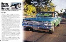 1961 CHEVROLET BEL AIR SPORT COUPE ~  GREAT 4-PAGE ARTICLE / AD