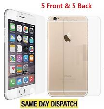 Anti-scratch 5 Front and Back Clear Screen Protectors Film FOR iPhone 6/6s plus