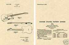 FENDER TELECASTER Patent Art Print guitar  READY TO FRAME!!!! 1951 Clarence TELE