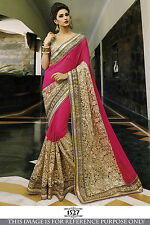 Indiano tradizionale PARTY Wear Bollywood Sari SPOSA pakistano Saree