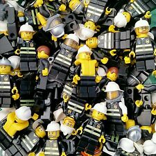 LEGO City Firefighter Minifigure x5 Lot Firemen Fire man authentic people
