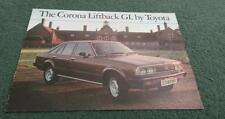 April 1979 TOYOTA CORONA 1800 GL LIFTBACK - UK COLOUR BROCHURE
