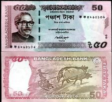 BANGLADESH 50 TAKA 2012 P NEW DESIGN ERROR AND CANCEL NOTE UNC LOT 5 PCS