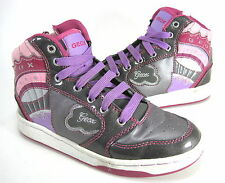 "GEOX LITTLE KIDS ""MANIA3"" FASHION SNEAKER DARK GREY GIRLS EUR 31 US SZ 13 MEDIUM"