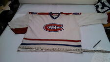 Retro Hockey Jersey printed logos, sponsor patches Canadiens XL free shipping!