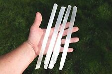 3/4 Lb Amazing WHITE Moroccan Selenite Natural Crystal Wands POWERFUL (4 LG pcs)