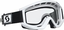 SCOTT RECOIL SPEED QUICK STRAP DIRT BIKE MX ATV UTV GOGGLE WHT CLEAR LENS