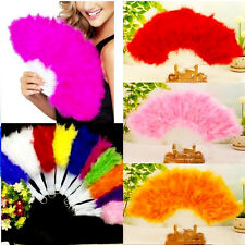 Beauty Large Belly Dance Costume Feather Folding Hand Decor Fan Red 1pc New