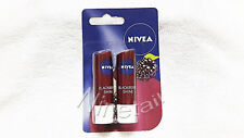 NIVEA Lip Balm Blackberry Shine 4.8g x 2