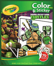Crayola Colouring & Sticker Books - Teenage Mutant Ninja Turtles