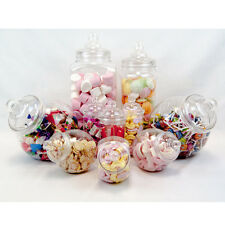 10x Retrò Vintage Barattoli PICK 'N' MIC CANDY BUFFET Sweet Shop WEDDING Kids Party Kit