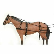 Two Tone Tan Leather SMALL A SIZE Mini Miniature Horse Pony Driving Harness