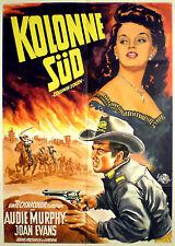 Westernplakat: KOLONNE SÜD von 1953  mit Audie Murphy von Klaus Dill