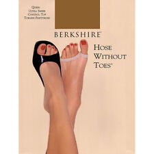 Berkshire Ultra Sheer Control Top Toeless Natural Tan Pantyhose Size 2