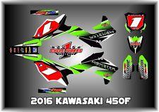 2016 KAWASAKI KX450 KX 450F CUSTOM MADE FEAR ME GRAPHIC KITS DECAL