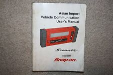 Snap-on MT2500 Scanner Asian Primary User's Manual Vehicle Communication