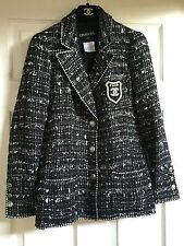 CHANEL 05C MOST WANTED Tweed Multicolor Chanel #5 Jacket Gold CC Patch FR34-36