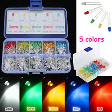 500Pcs 3mm Round Top LED Colorful Light Bulb DIY Set Car Decorations with Box