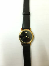Orologio movado museum donna SWISS pelle nera 87-90-825 WATCH black LEATHER new