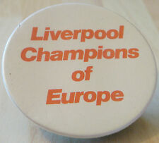 LIVERPOOL CHAMPIONS OF EUROPE vintage button badge 56mm x 56mm