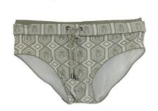 DOLCE & GABBANA Mens Edgy Gold/White Laced Closure Swim Briefs GB500B M NWT $320
