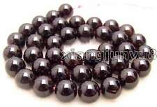 "SALE Big 9-10mm Round high quality Natural Brown garnet Beads strand 15""-lo132"
